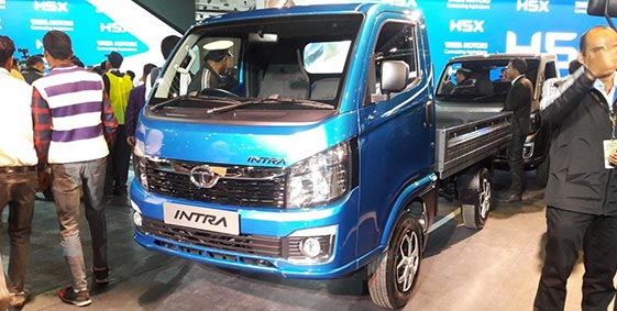 Showcasing of Tata Intra at auto expo