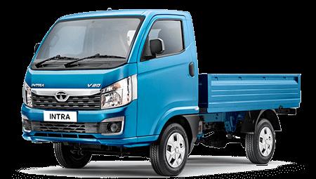 Tata Intra Blue Colour LH Side